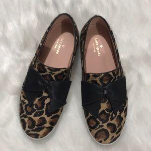 Kate Spade Leopard slip on sneakers